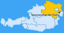 Karte von Enzersdorf an der Fischa