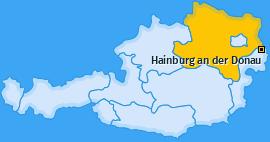 Karte von Hainburg an der Donau