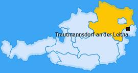 Karte von Trautmannsdorf an der Leitha