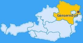 Bezirk Gänserndorf Landkarte