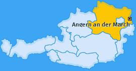 Karte von Angern an der March