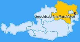 Karte von Leopoldsdorf im Marchfelde