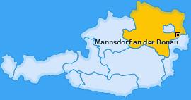 Karte von Mannsdorf an der Donau
