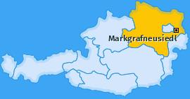 Karte von Markgrafneusiedl