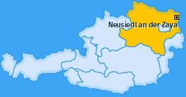 Karte von Neusiedl an der Zaya