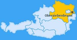 Karte von Obersiebenbrunn