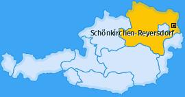Karte von Schönkirchen-Reyersdorf