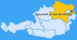 Karte von Strasshof an der Nordbahn
