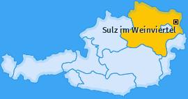 Karte von Sulz im Weinviertel