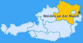 Karte von Weiden an der March