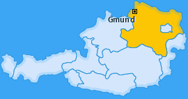 Bezirk Gmünd Landkarte