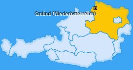 Karte Grillenstein Gmünd (Niederösterreich)