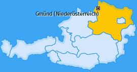 Karte von Gmünd (Niederösterreich)