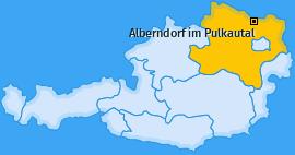 Karte von Alberndorf im Pulkautal