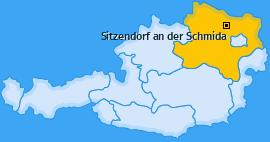 Karte von Sitzendorf an der Schmida