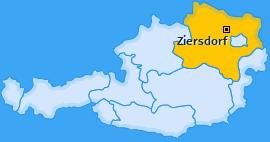 Karte von Ziersdorf