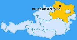 Karte von Brunn an der Wild