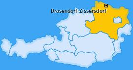 Karte von Drosendorf-Zissersdorf