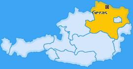 Karte von Geras
