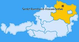 Karte von Sankt Bernhard-Frauenhofen