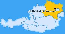 Karte von Stetteldorf am Wagram