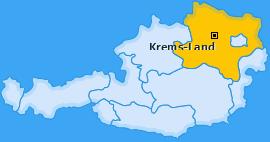 Bezirk Krems-Land Landkarte