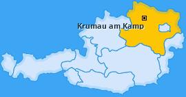 Karte von Krumau am Kamp