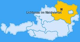 Karte von Lichtenau im Waldviertel