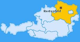 Karte von Rastenfeld