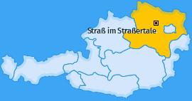 Karte von Straß im Straßertale