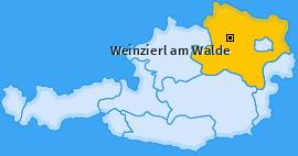 Karte von Weinzierl am Walde
