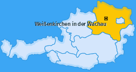 Karte von Weißenkirchen in der Wachau