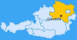 Bezirk Lilienfeld Landkarte