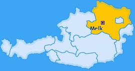 Bezirk Melk Landkarte