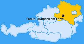 Karte von Sankt Leonhard am Forst