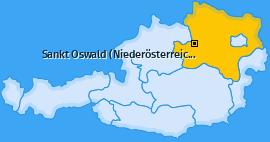 Karte von Sankt Oswald (Niederösterreich)