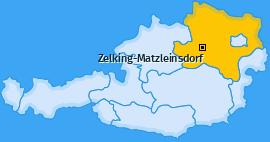 Karte von Zelking-Matzleinsdorf