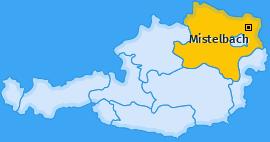 Bezirk Mistelbach Landkarte