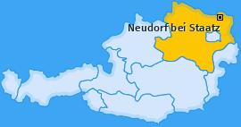 Karte von Neudorf bei Staatz