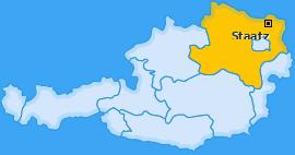 Karte von Staatz