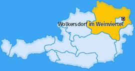 Karte von Wolkersdorf im Weinviertel