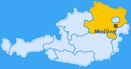 Bezirk Mödling Landkarte