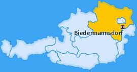 Karte von Biedermannsdorf