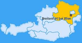 Karte von Breitenfurt bei Wien