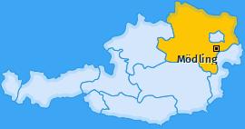 Karte von Mödling