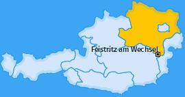 Karte von Feistritz am Wechsel