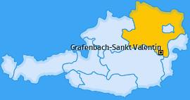 Karte von Grafenbach-Sankt Valentin