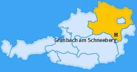Karte von Grünbach am Schneeberg