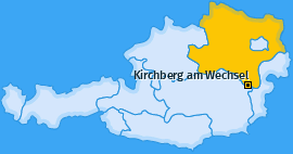 Karte von Kirchberg am Wechsel