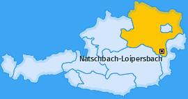Karte von Natschbach-Loipersbach